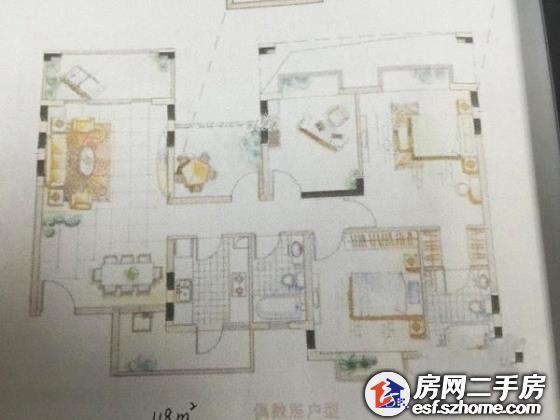 中海西岸华府南区 精装修,3室2厅,76.53m诚心出售