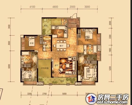 110平方一厅四房设计图