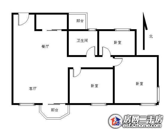 南景豪庭小三房77平好楼层好户型好朝向仅售260万